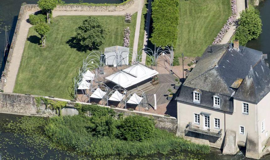 Vue aérienne du Moulin des quatre saisons