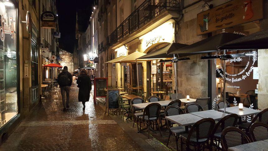 La rue de la Juiverie, quartier Bouffay à Nantes, le 28 janvier 2020.