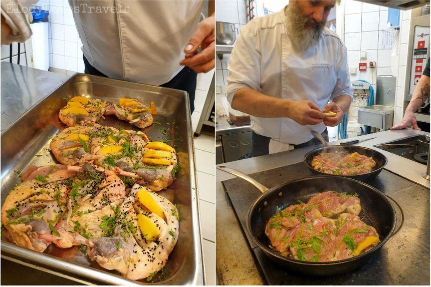 Cours de cuisine au château d'Ygrande avec Cédric Denaux