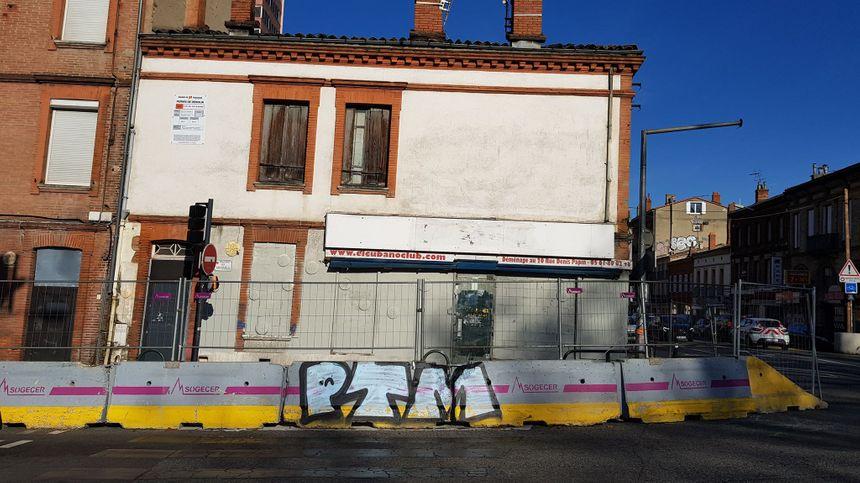 Le célèbre Cubano Club va être détruit dans le cadre du plan de restructuration de l'avenue de Lyon, quartier Matabiau.