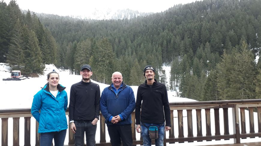 L'équipe de Beldina : Tiphaine, William, Thierry Rouvès et Benyamin