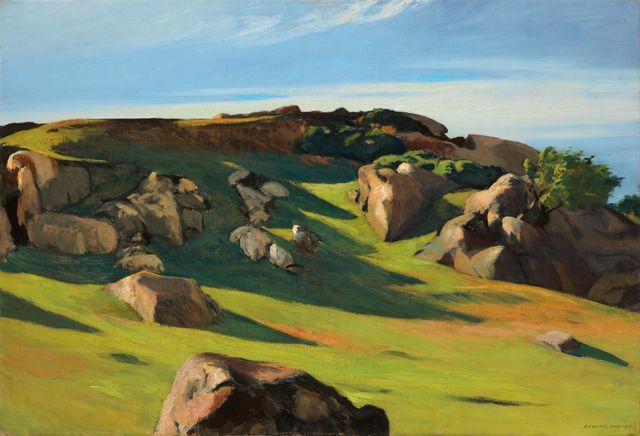 EDWARD HOPPER, CAPE ANN GRANITE, 1950 / Huile sur toile / 73.5 x 102.3 cm / Collection privée
