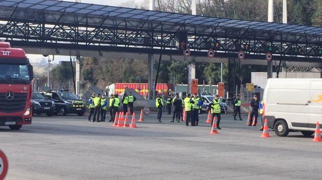 L'opération a eu lieu au péage de Biriatou, à la frontière espagnole.