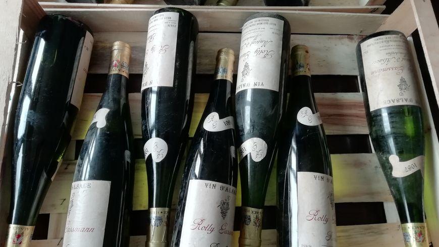 Une partie des bouteilles destinées à Elisabeth II