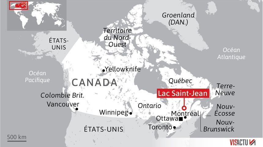 Touristes français disparus au Québec : la zone de l'accident.
