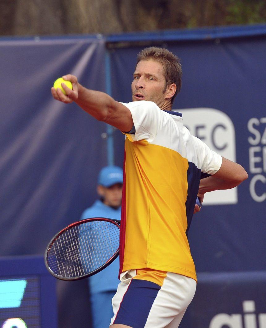 Jerzy Janowicz lors de l'un de ses derniers tournois, à Szczecin en Pologne en septembre 2017.