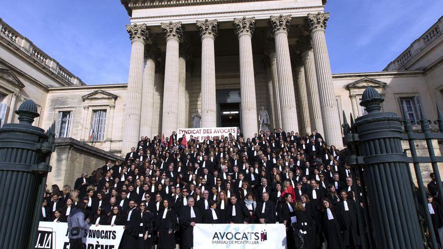 Les avocats de Montpellier mobilisés contre la réforme des retraites. Ici, le 13 janvier (illustration)