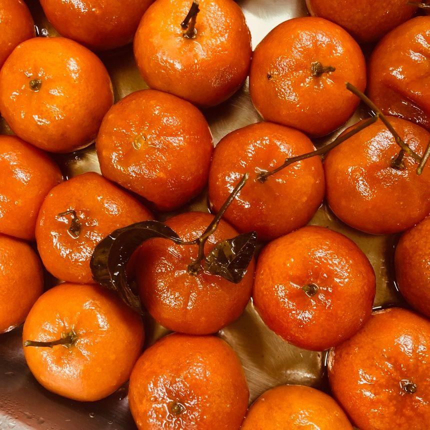 Les mandarines confites.