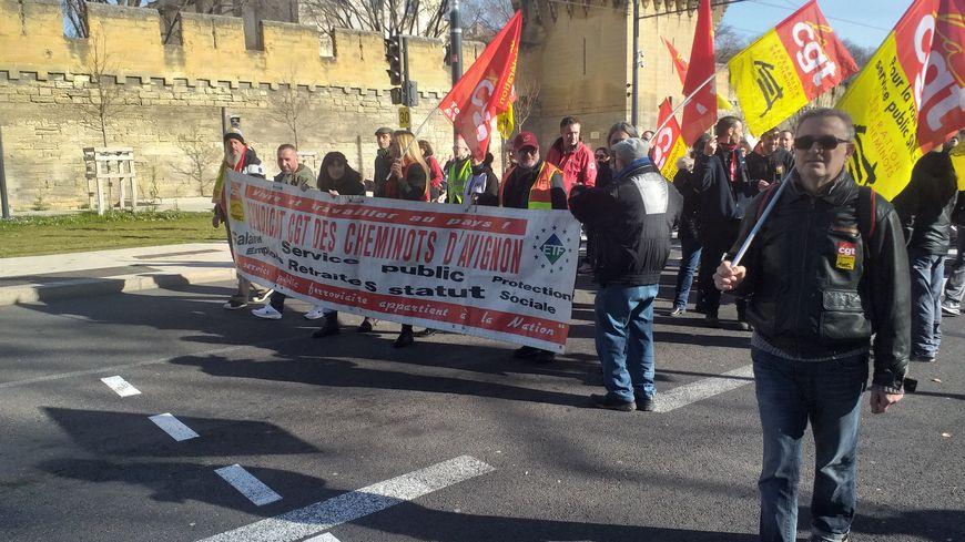 Les opposants à la réforme des retraites étaient de nouveau dans les rues d'Avignon pour la 8e journée d'action nationale.