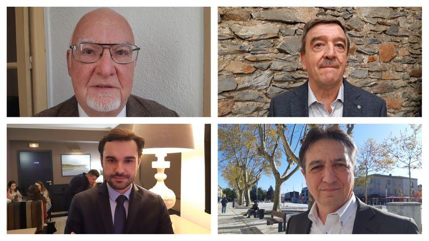Jean-Jacques Gros, André Martinez, Guillaume Arcèse et Pascal Bugis candidats à la marie de Castres.