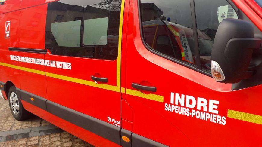 Un camion des pompiers de l'Indre