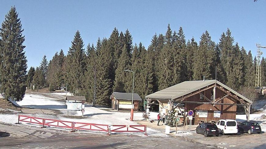 La station de Chapelle des Bois ce 22 janvier (webcam).