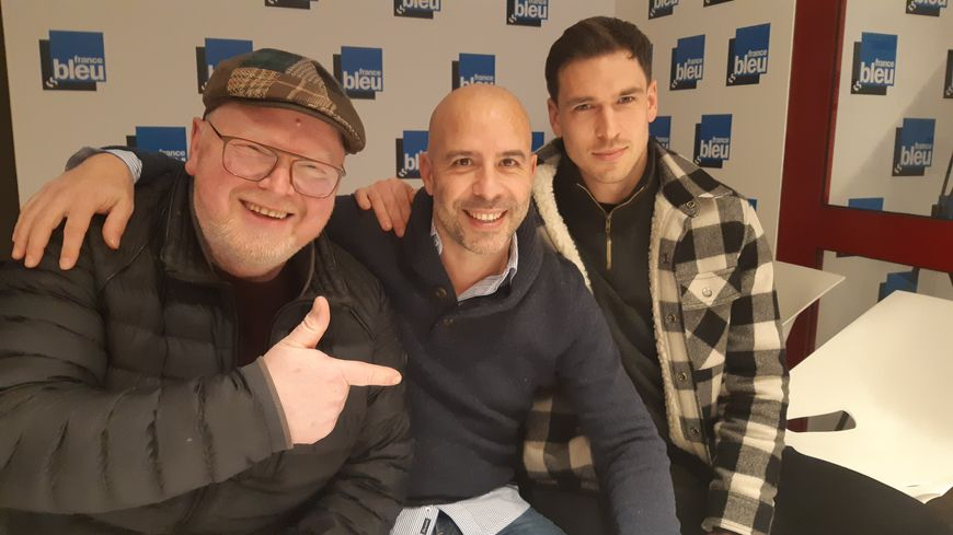 L'équipe du mercredi : Laurent Pilloni, Basile Camerling et Fabrice Gwizdak
