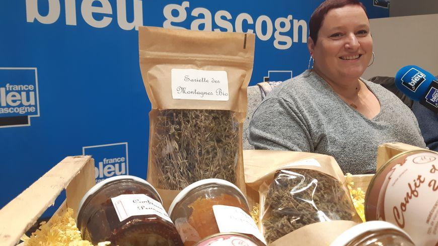 Aurélie Lalanne de la Ferme Coumet à Préchacq-les-Bains
