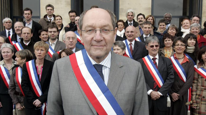 Philippe Duron, alors maire de Caen, en mars 2008