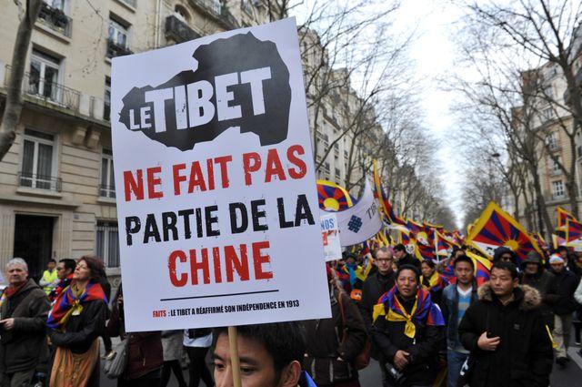 Manifestation de Tibétains à Paris le 24 mars 2019.