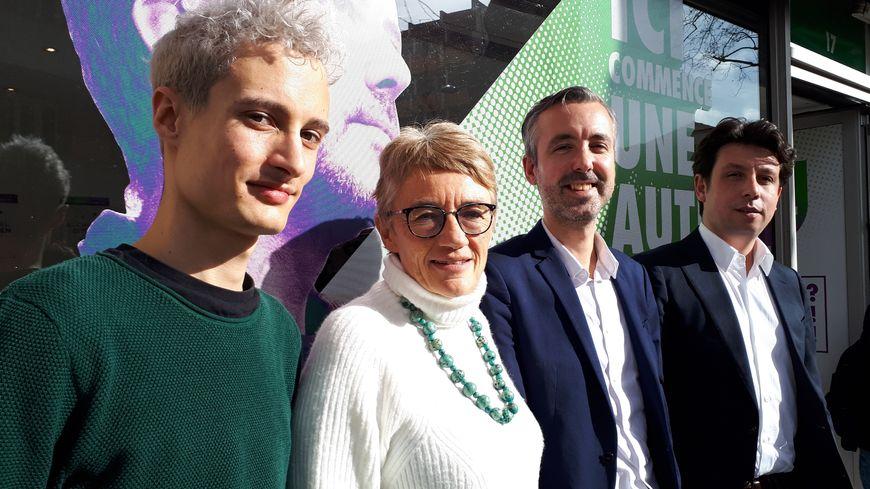 "Olivier Gazzera, Catherine Jeandel, Antoine Maurice et Romain Cujives. Archipel citoyen veut faire de Toulouse ""un grand jardin"""
