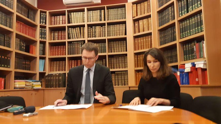 Loïc Abrial, procureur de Montargis, et Emilie Petrvski, substitut du procureur, le 14 janvier 2020