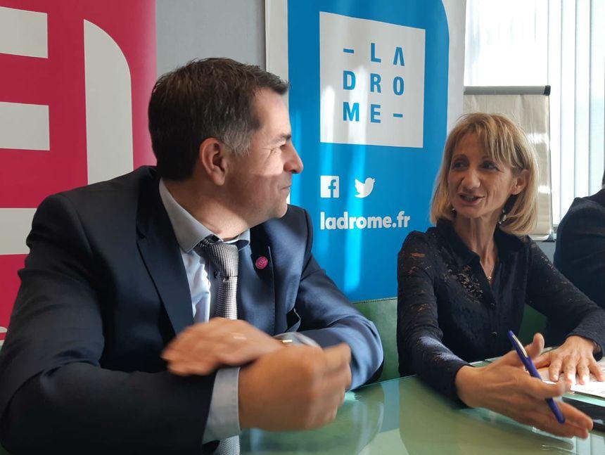 Laurent Ughetto et Marie-Pierre Mouton se rencontrent environ deux fois par an pour évoquer les sujets en commun en Drôme Ardèche.