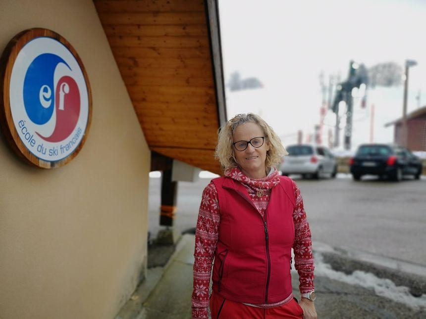 Nadine Clauzier, directrice de l'ESF de Méaudre