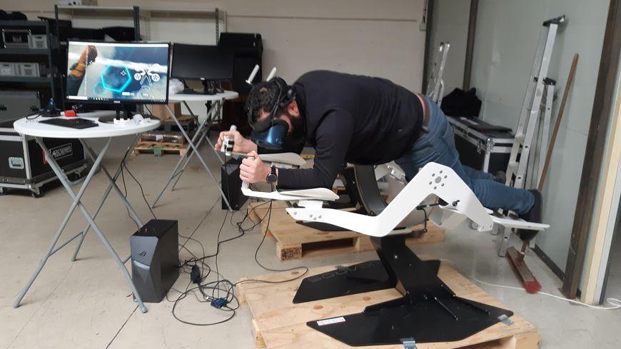 Stéphane Gineste nous propose une démonstration du simulateur