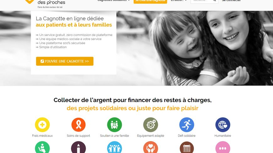 Le site lacagnottedesproches.fr