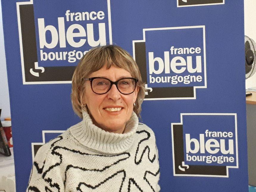 Marie-Claire Bingelli de l'équipe Charline et Cie pour le challenge du don du sang à Dijon.