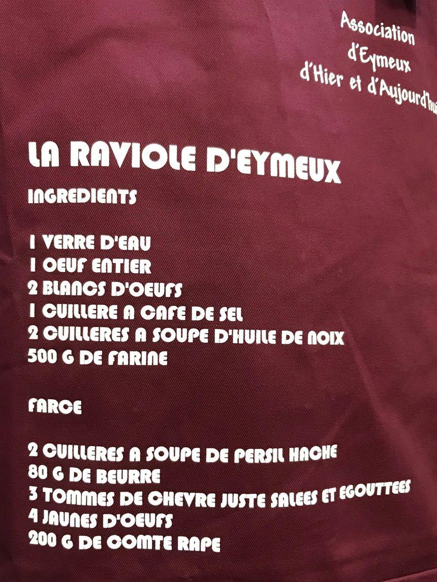 """Recette """"originale"""" de la Raviole d'Eymeux"""