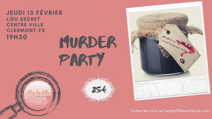 Murder Party - Affiche de l'événement