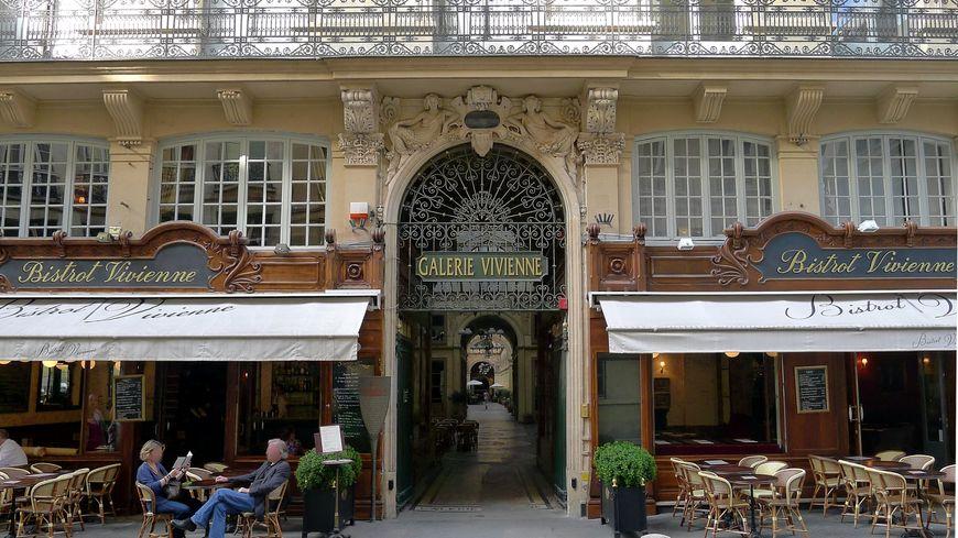 L'entrée de la Galerie Vivienne par la rue de Petits Champs