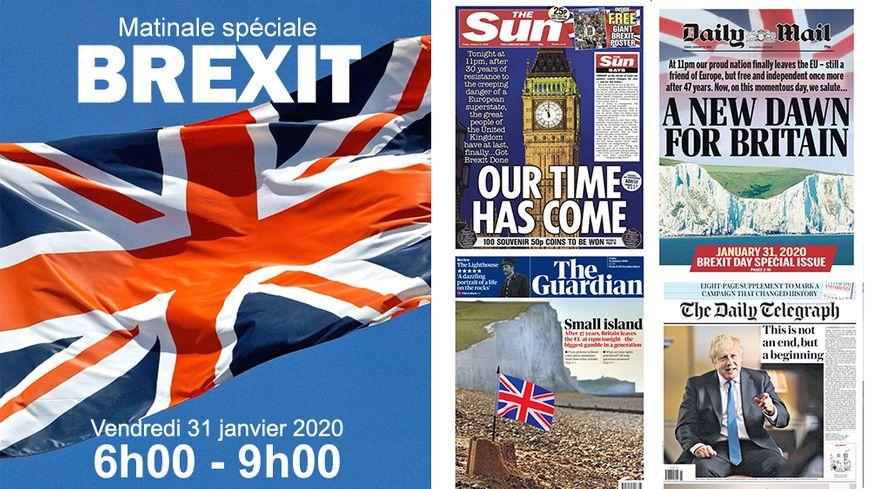 Les titres de la presse britannique ce vendredi 31 janvier 2020, jour du Brexit