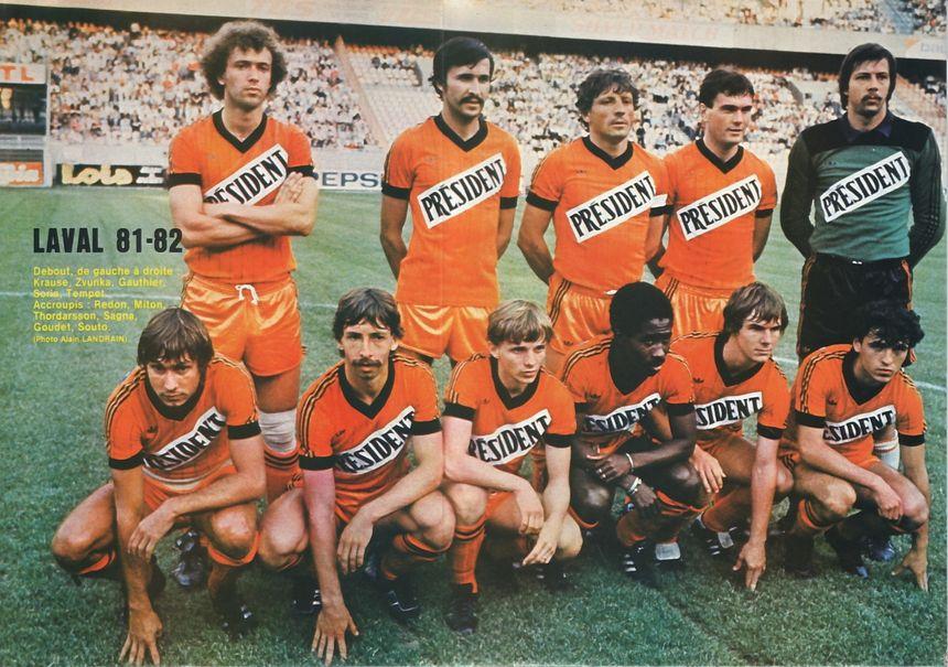 L'une des plus belles équipes du Stade Lavallois, 5e de 1ère Division
