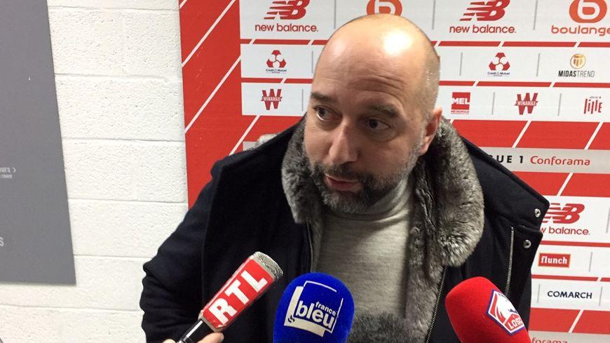 Gérard Lopez le président du Losc après la défaite face à Paris (2-0) en Ligue 1