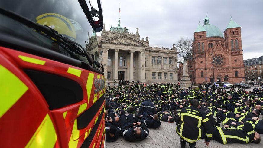 Les pompiers étaient mobilisés depuis juin 2019 partout en France et notamment à Strasbourg (Bas-Rhin)
