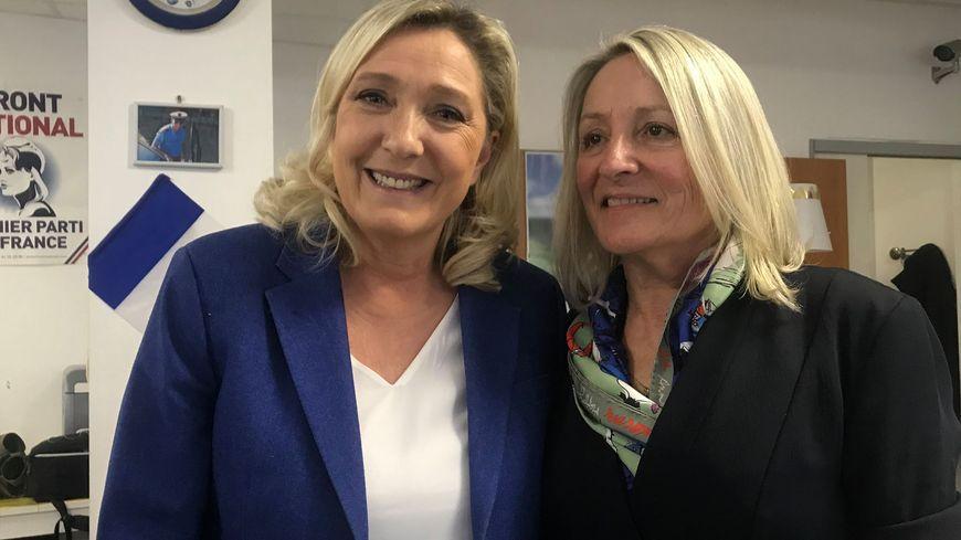 Marine Le Pen s'est rendue à Brest pour investir Renée Thomaïdis comme candidate du RN lors des prochaines municipales