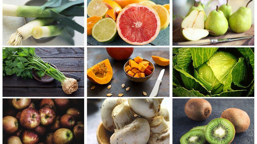 Les fruits et légumes de janvier, pour commencer l'année en pleine forme