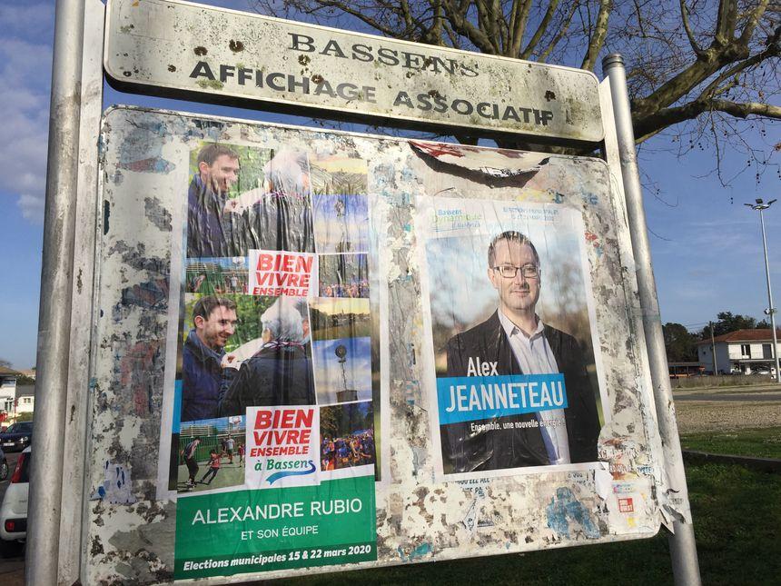 Les deux candidats qui briguent la mairie de Bassens sont Alexandre Rubio (à gauche) et Alex Jeanneteau (à droite).