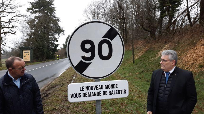 Il faudra freiner à 80 km/h en entrant dans cinq des départements voisins de la Corrèze, comme ici vers La Porcherie (Haute-Vienne)