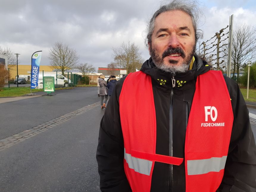 François, salarié de Procter et Gamble en grève contre la réforme
