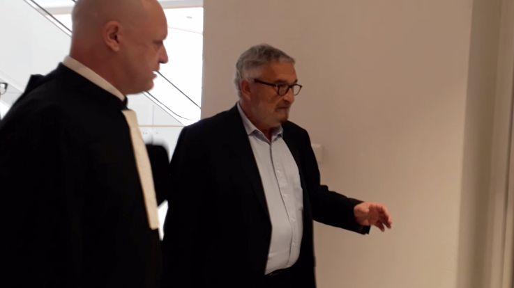 Jean François Fortin et son avocat Me Gery lors de son procès au tribunal correctionnel de Paris