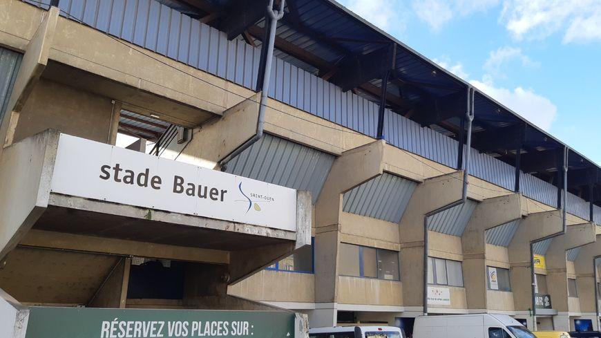 Stade Bauer de Saint-Ouen en Seine-Saint-Denis  où évolue le club de foot du Red Star FC
