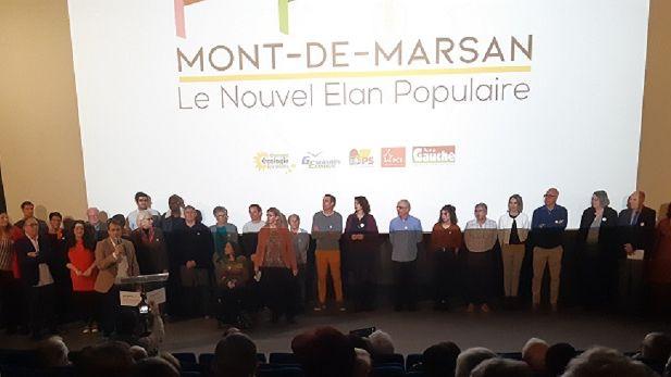 """Prséentation de la liste d'union de la gauche """"Le Nouvel Elan Populaire"""" à Mont-de-Marsan"""