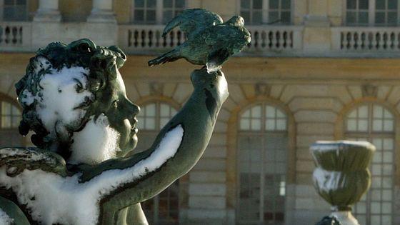 Amours sous la neige, parc du Château de Versailles