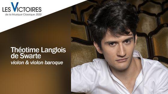Le violoniste Théotime Langlois de Swarte fait partie des nommés aux Révélations des Victoires de la Musique Classique 2020