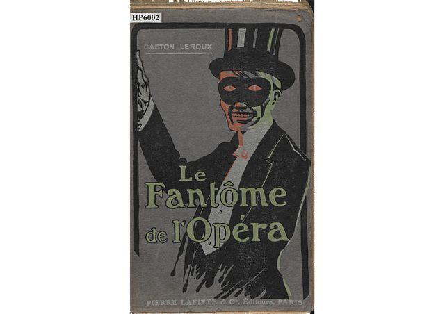 La Fantôme de l'Opéra, couverture de l'édition originale, éditions Pierre Lafitte et Cie