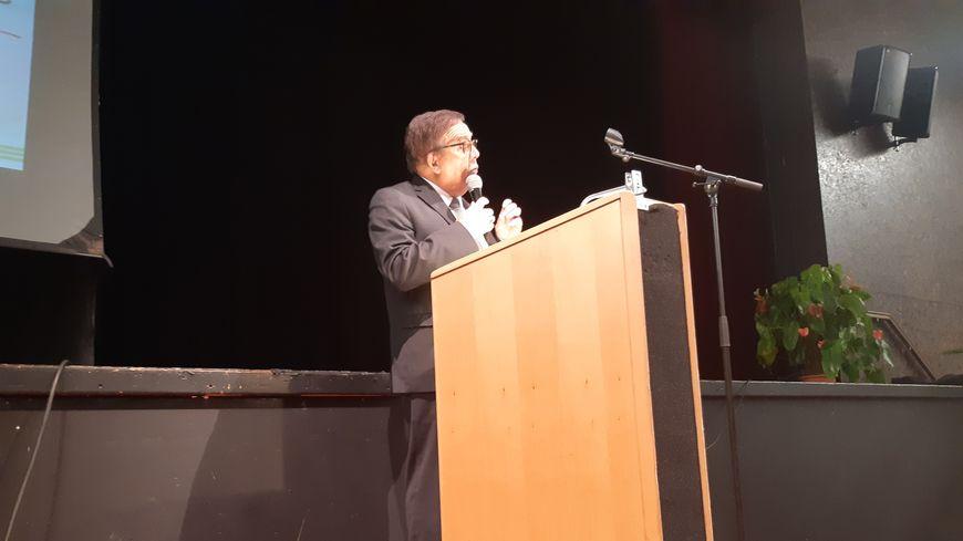 Michel Angot lors de ses voeux aux habitants le lundi 13 janvier 2020