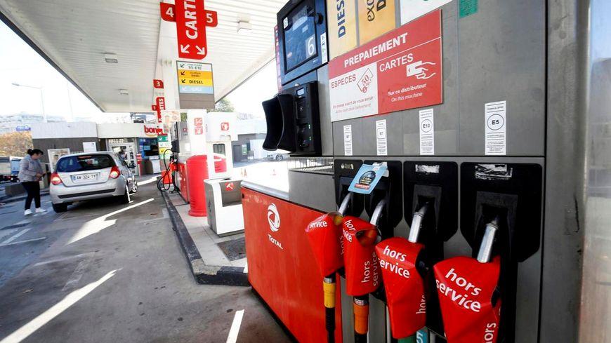 Photo d'illustration d'une station service touchée par la pénurie de carburant