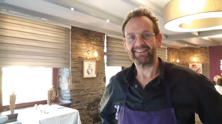 Christophe Le Fur chef étoilé de l'auberge Grand Maison à Mûr de Bretagne