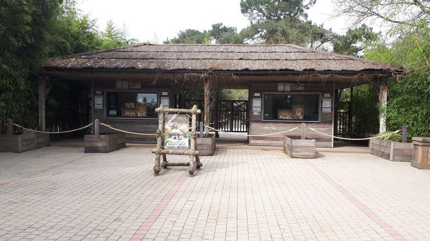 L'entrée du zoo de la Flèche (illustration)