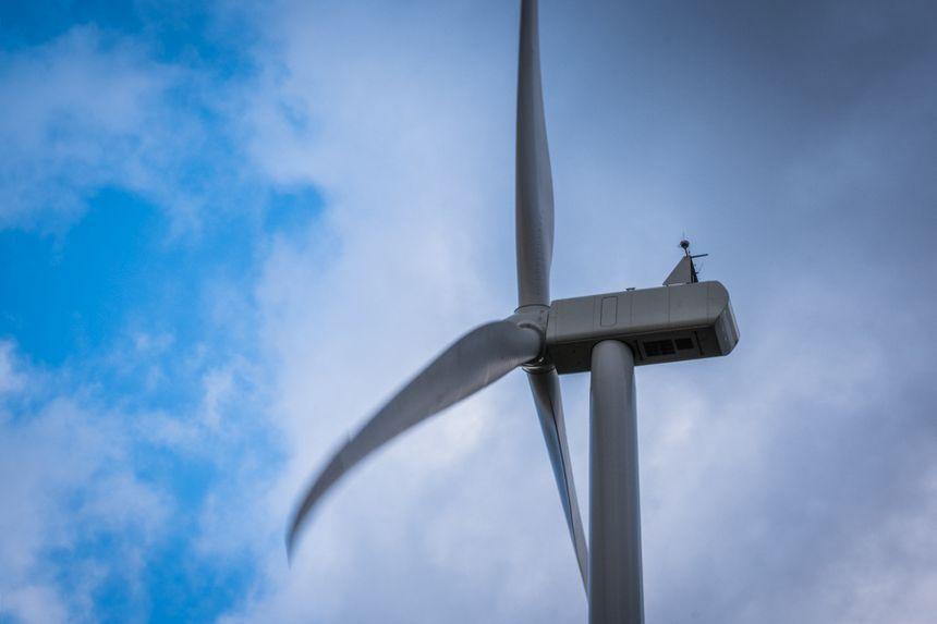 Une des éoliennes du parc